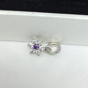 Pandora purple diamond charm